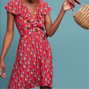 Anthropologie Maeve Rosalia Wrap Dress NWT